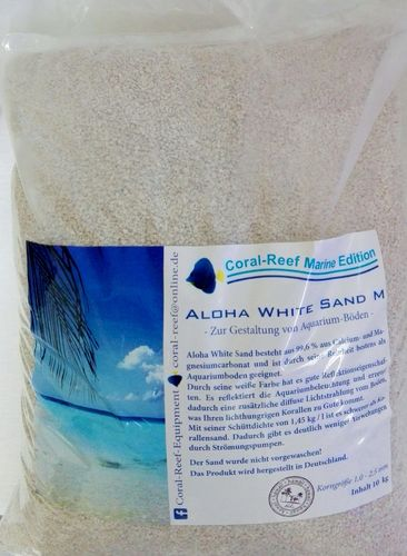 Aloha White Sand M  1,5 - 2,5 mm  10 kg/Sack 1,75 €/kg