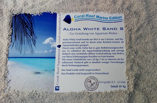 Aloha White Sand S  0,5 - 2,5 mm  10 kg/Sack  1,75 €/kg